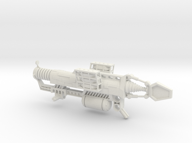 Impact Crystal Launcher in White Natural Versatile Plastic