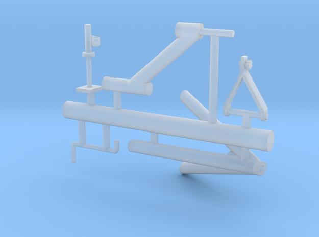 M2 mount for guntruck HMMWV - 1/18 scale in Smooth Fine Detail Plastic