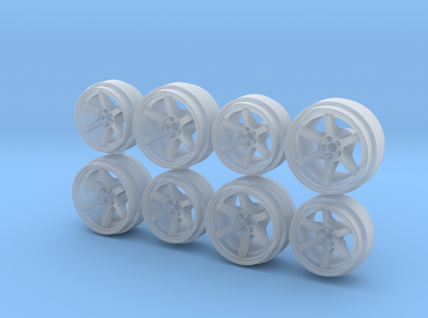 TE37 Staggered 9-10 Hot Wheels Rims in Smoothest Fine Detail Plastic