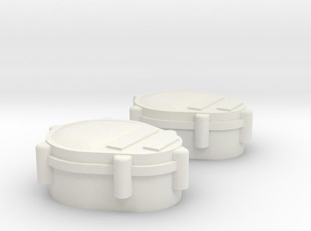 Tamiya Hummer HUMVEE M1025 Tail Light Lamp Lense in White Natural Versatile Plastic