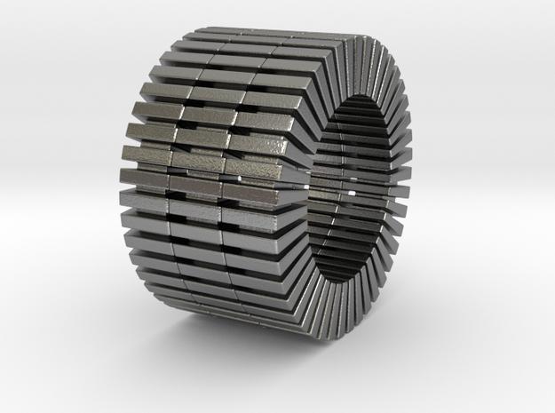 Patrick Tetragon2 - expanded - 3 Stack - Ring in Natural Silver: 9 / 59