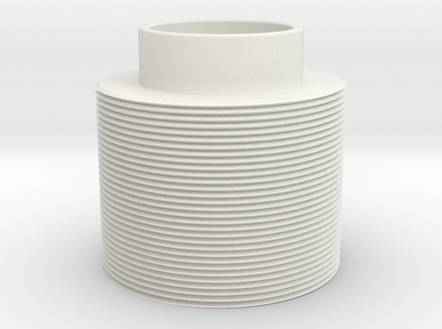 Threaded in White Natural Versatile Plastic