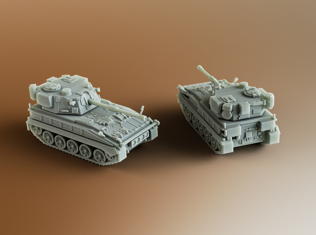 FV433 Field Artillery Abbot Scale: 1:100 in Smooth Fine Detail Plastic