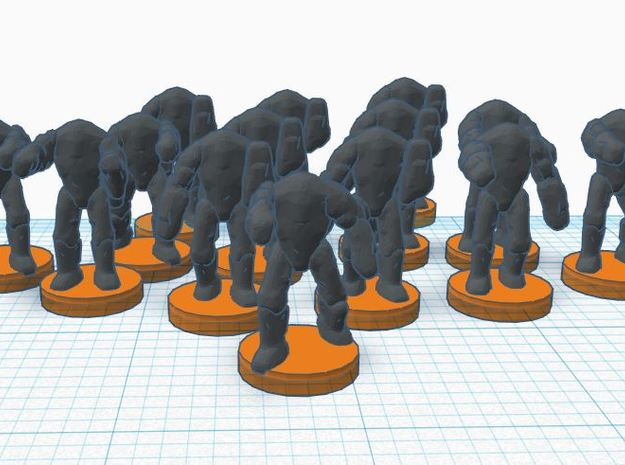 6mm B2 Super Combat Robots X35 in White Natural Versatile Plastic