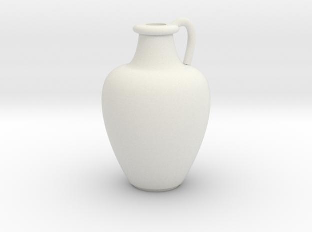 1/12 Scale Vase in White Natural Versatile Plastic