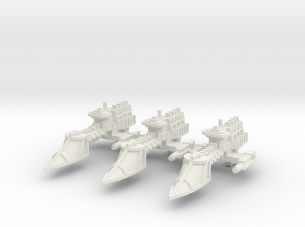 Fragata clase Sable x3 in White Natural Versatile Plastic