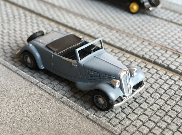 Citroen Traction roadster 1934 - Ho 1:87 in Smooth Fine Detail Plastic