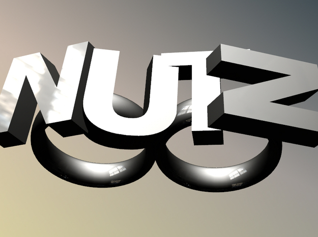 Nutz Double 2 in Polished and Bronzed Black Steel