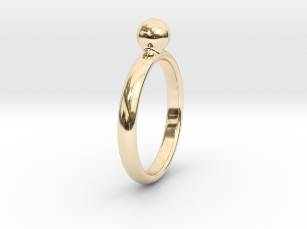 ring pearl size 5 in 14k Gold Plated Brass