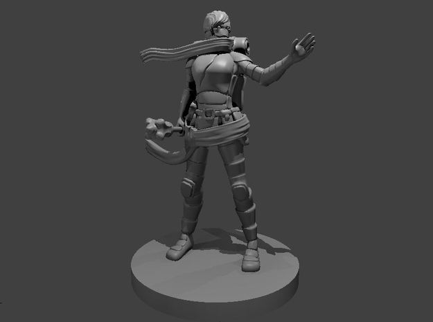 Warforged Female Cleric in Smooth Fine Detail Plastic