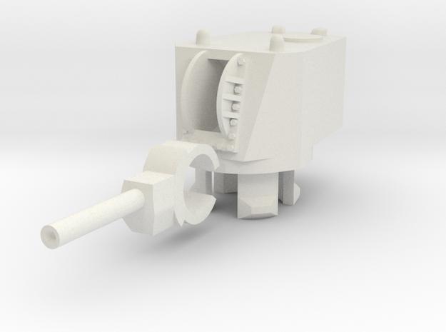 MT-1 Turret in White Natural Versatile Plastic: 15mm