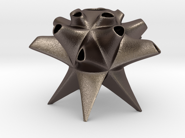 Poly in Polished Bronzed-Silver Steel