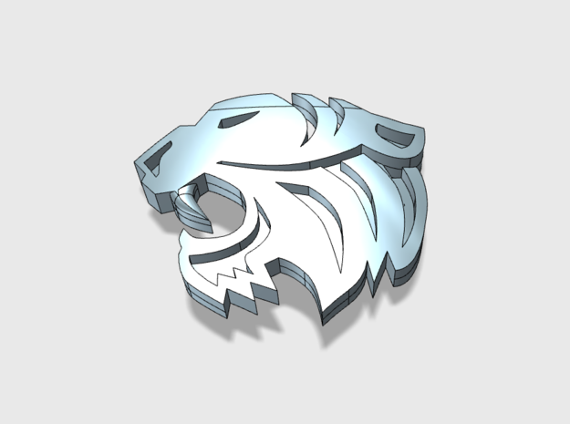 60x Silver Tigers - Shoulder Insignia pack