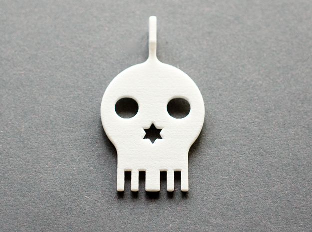 Jolly Roger in White Processed Versatile Plastic