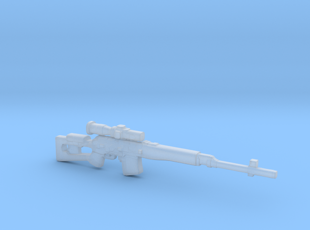 Dragunov SVD-63 in Smooth Fine Detail Plastic
