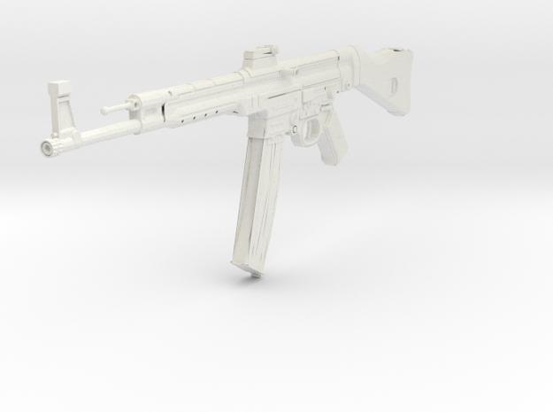 1:6 Miniature MP44 Gun in White Natural Versatile Plastic