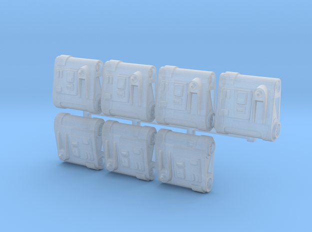 Bad Weather Backpacks(x7) in Smoothest Fine Detail Plastic