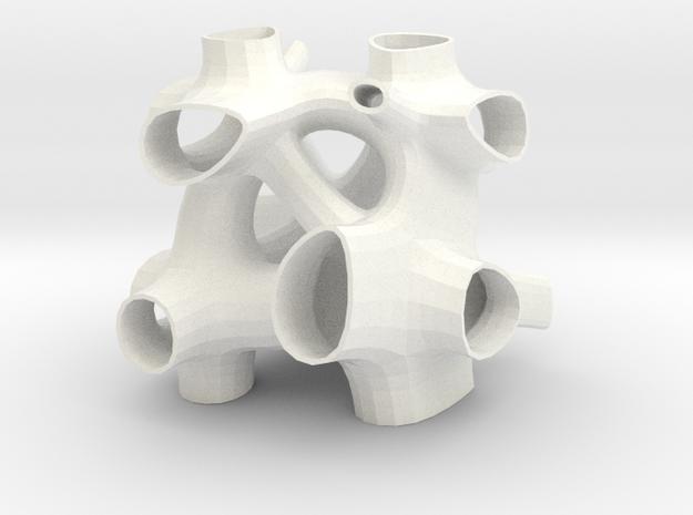 Vorospace Sculpture - Version 5 in White Processed Versatile Plastic