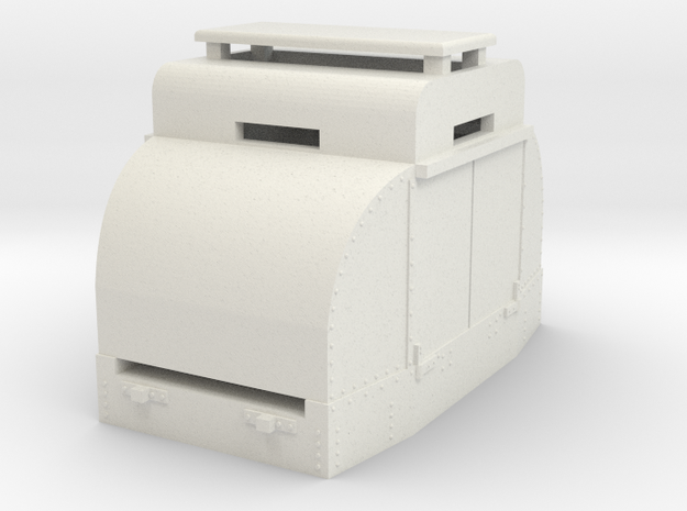 "40HP Simplex ""armoured""(OO9) in White Natural Versatile Plastic"