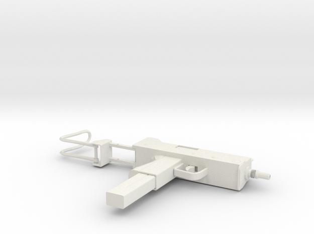 1:6 Miniature Mac 10 Gun in White Natural Versatile Plastic