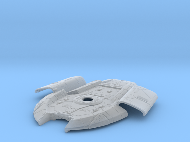 1:1400 Defiant Bottom Hull (Pt 2 of 3) in Smooth Fine Detail Plastic