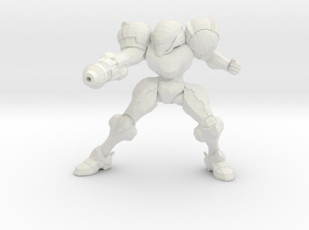 Metroid Samus 1/60 miniature for scifi games rpg 2 in White Natural Versatile Plastic
