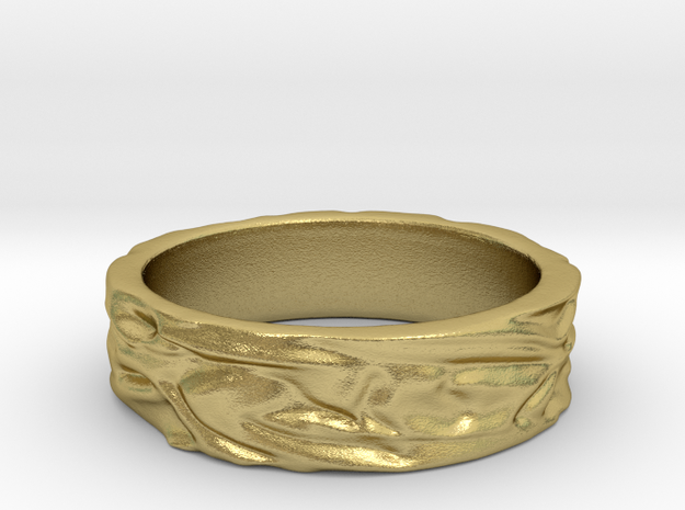 Soft Ring JACQUIE size 8¾ -R in Natural Brass