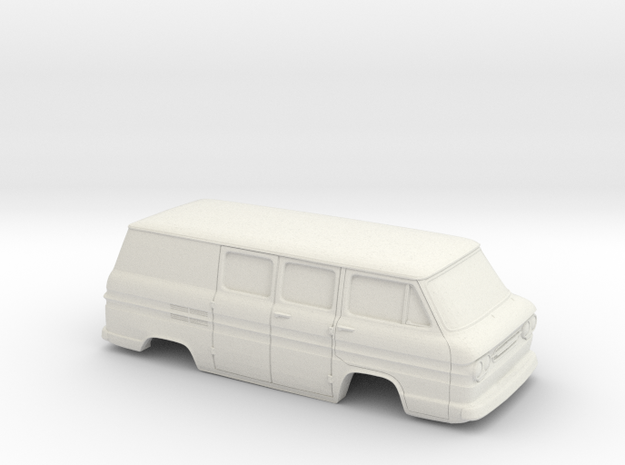 1/32 1961-65 Chevrolet Corvair Greenbrier Del. She in White Natural Versatile Plastic