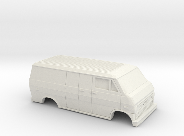 1/32 1972-74 Ford Econoline Delivery Van Shell in White Natural Versatile Plastic