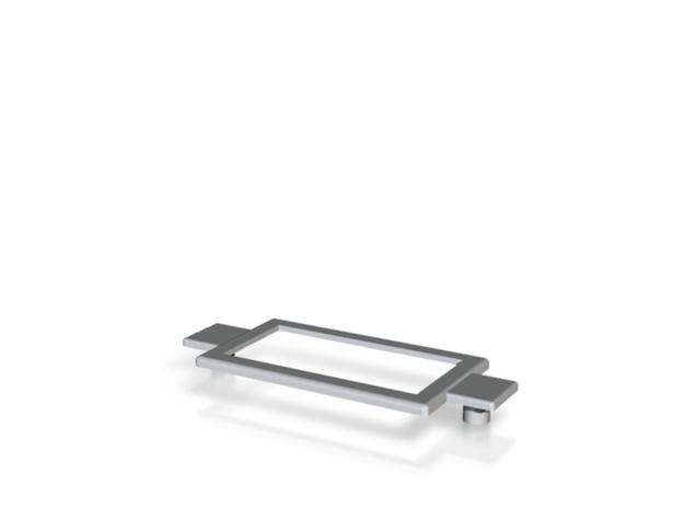 Name Plate 0006 - insert (plugs) in White Natural Versatile Plastic