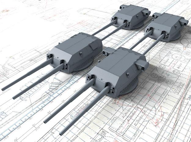 """1/350 DKM Bismarck 38cm (14.96"""") SK C/34 Guns in Smooth Fine Detail Plastic"""