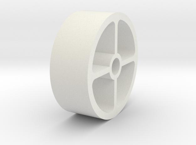 03.03.03.04 Stbd Belcrank Spacer in White Natural Versatile Plastic