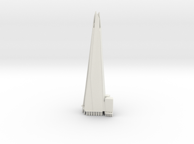 The Shard - London (6 inch) in White Natural Versatile Plastic