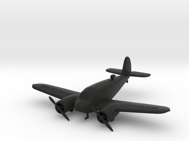 Cessna AT-17 Bobcat in Black Natural Versatile Plastic