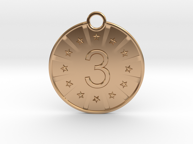 Medaille Bronze in Polished Bronze