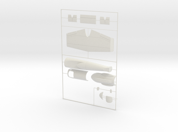 "1/144 Heinkel Projekt P.1077 ""Julia"" in White Natural Versatile Plastic"