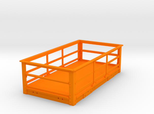 FRB11 Festiniog 2Ton Slate Wagon, Rail Spine (SM32 in Orange Processed Versatile Plastic