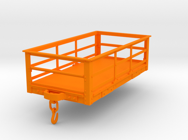 FRC11 Festiniog 2Ton Slate Wagon, Rail Spine (SM32 in Orange Processed Versatile Plastic