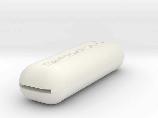 08.02.11.01 Emerg Release Handle in White Natural Versatile Plastic