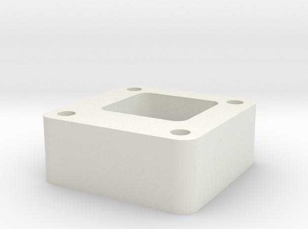 03.01.03.23 Stbd Rudder Rear Support in White Natural Versatile Plastic