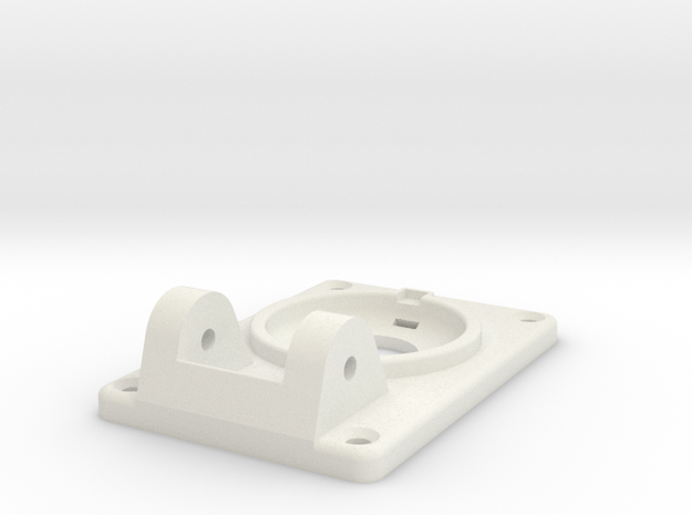 08.01.02.05.02.02 Base Plate (1) (2) in White Natural Versatile Plastic