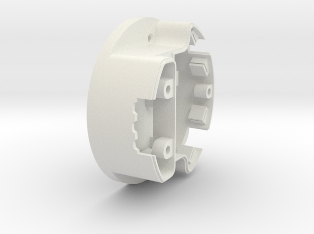08.02.02.01 Main Shell in White Natural Versatile Plastic