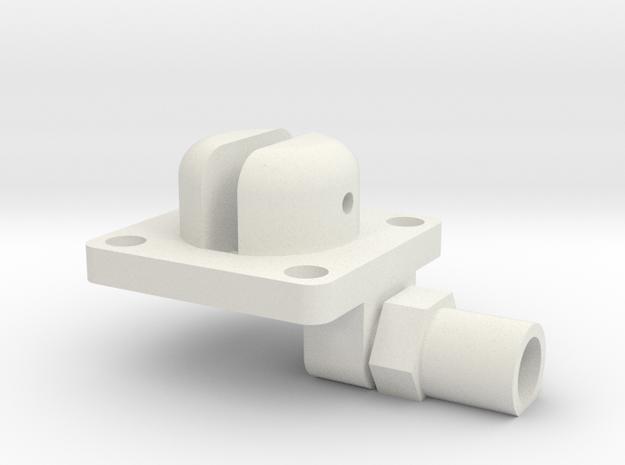 08.04.17.02 Flap Valve in White Natural Versatile Plastic