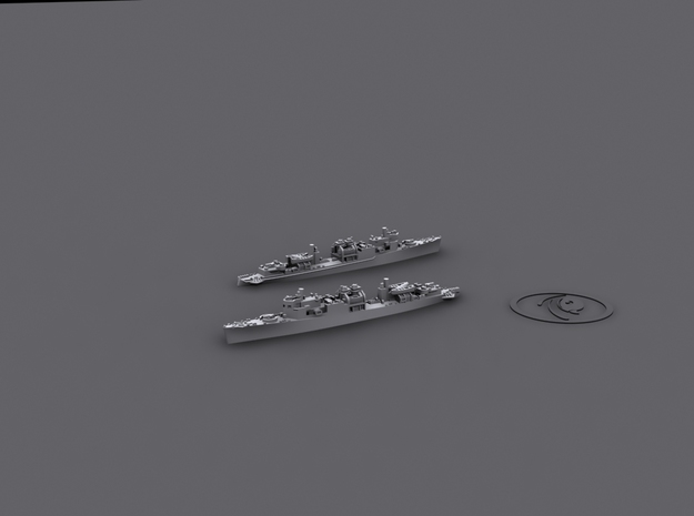 1/1800 Clemson-Wickes Auxiliaries* 3d printed Seaplane Tender conversion