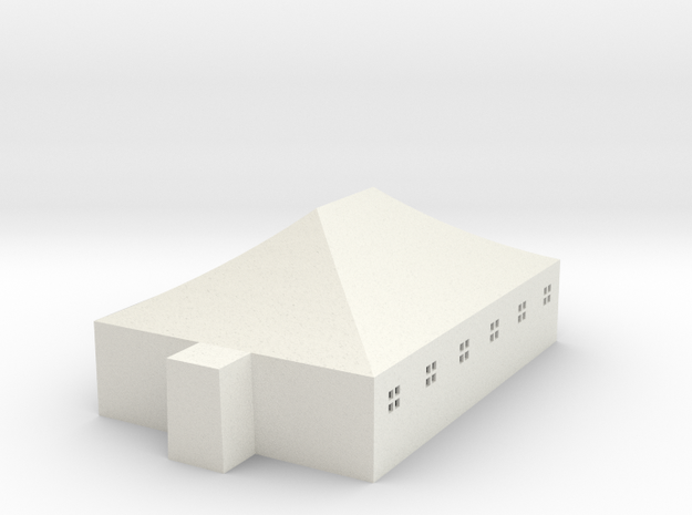 Tent w/ windows 8,85m x 5,85m 1:87 scale 20190220 in White Natural Versatile Plastic