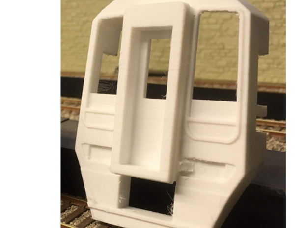 Class 158 Cab: O-Gauge (1:43.5) DMU in White Natural Versatile Plastic