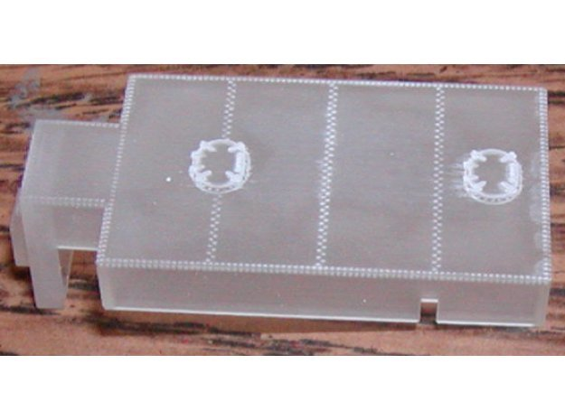 Oil tank 2 hatch for N Kato 2-8-2 in Smoothest Fine Detail Plastic