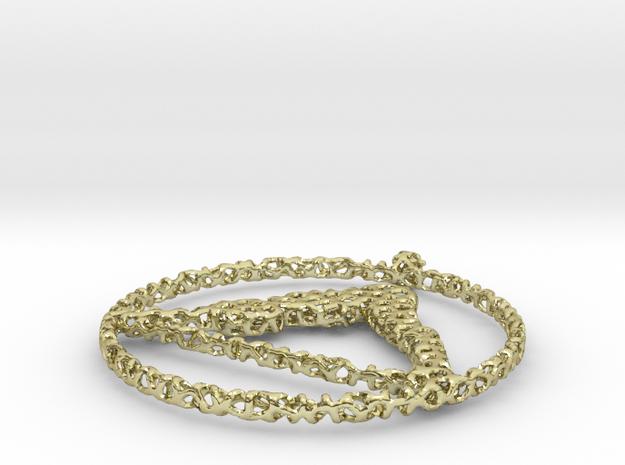 voronoi yoga pendant in 18k Gold Plated Brass