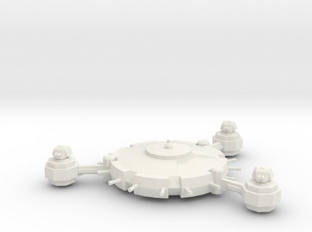 Orbital Defence Platform - Lite Battery in White Natural Versatile Plastic