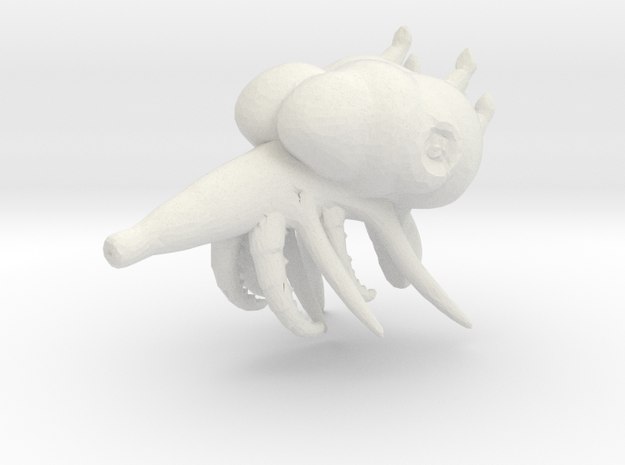 ! - Space Monster - Concept A  in White Natural Versatile Plastic